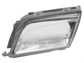 Mercedes r129 OEM Xenon Headlight Lens ( L ) mint new left lh driver lamp glass ()