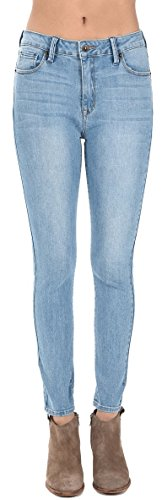 Just USA Jeans Women's High Rise Whisker Wash Ankle Skinny 0 Light (For Jeans Women Light Skinny Wash)