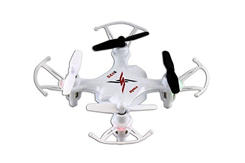 Syma X12S Nano 6-Axis Gyro 4CH RC Quadcopter with Protection Guard, Color White
