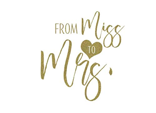 From Miss To Mrs: White and Gold Bridal Shower Guest Book And Gift Recorder