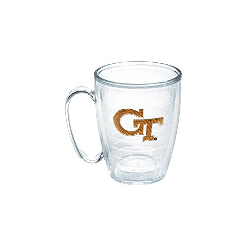 Tervis 1050308 Georgia Tech Emblem Individual Mug, 16 oz, Clear