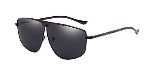 métallique soleil de Grise Complète polarisées du lunettes style inspirées en Pièce cercle Lennon vintage rond retro UgqPqw5