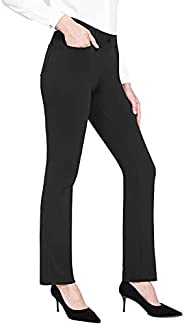 BALEAF Dress Pants for Women Work Casual Yoga Business Pants Fit Straight Leg Office Wear with Pockets