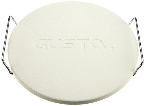 Gusta Trattoria Pizzastein mit Halterung, 33 cm