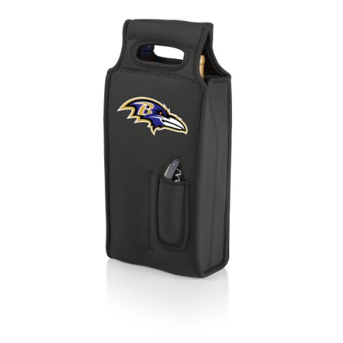 NFL Baltimore Ravens Samba 2-Bottle Neoprene Wine Tote Bag