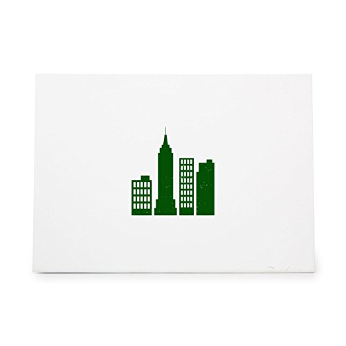 (City Skyscrapers Skyscaper Skyline New Style 8417, Rubber Stamp Shape great for Scrapbooking, Crafts, Card Making, Ink Stamping)