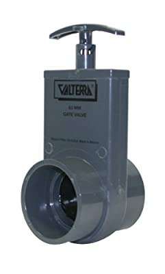 Valterra 3201 PVC Metric Unibody Gate Valve, Gray, 63 mm Slip from Valterra Products