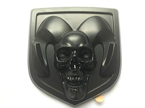 - Taroal DR-150SK Special Customzied Skull Demon Halloween Head Tailagte Rear Trunk For 2013-2018 Ram 1500 2500 3500 Emblem Badge Replace #68218155AA (For Tailgate)