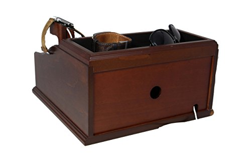 Wooden Multi Device Charging Station And Cord Organizer