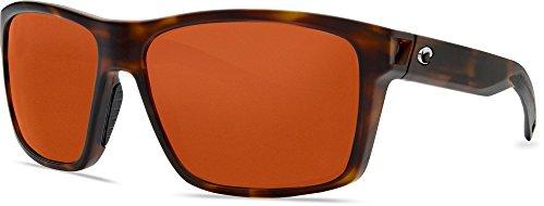 Costa Del Mar Unisex Adult SLT191OCP Slack Tide Sunglasses, Matte Tortoise Frame, Copper Polarized Plastic (580) Lenses