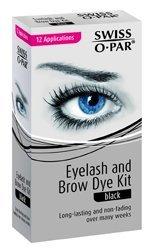 Swiss O Par Eyelash & Brow Dye Tint Color Kit BLACK