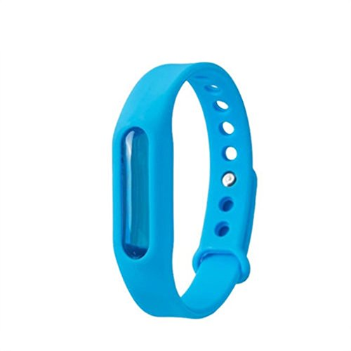 Botrong Waterproof Anti Mosquito Pest Insect Bugs Repellent Repeller Wrist Band Bracelet Wristband (Blue)