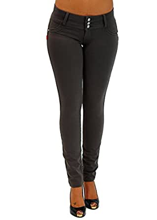 U-Turn Style 1119 Butt lifting, Levanta Cola, Skinny Leg Premium French Terry Fashion Moleton in Asphalt