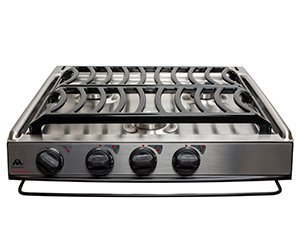 (Atwood 52757 CA-35 S Slide-In Cooktop with Piezo Ignition, Sealed Burner - Stainless Steel)
