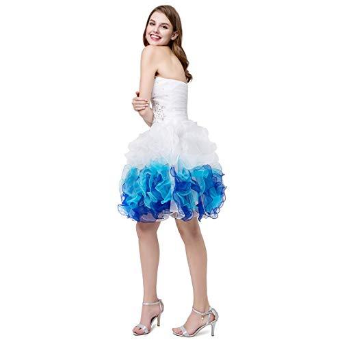 Da Con Estivo Casual Spalle Haxibkena ScopertecolorStytle1Size Donna Sexy Vestito Size6Stytle2 Partito TK1JlFc