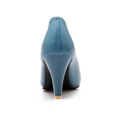 pelle Stöckel donna sene zehe Heels Pumps tacco in Scarpe chlos High vestito Donna Blu Heels cirior absaetzeges High da wOnfqz0X7