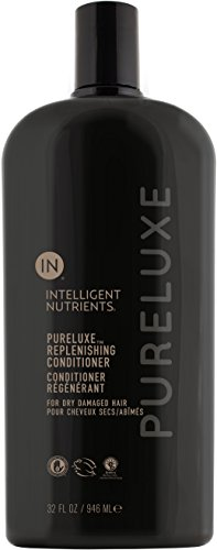 Intelligent Nutrients PureLuxe Replenishing Conditioner - Baobab Protein Conditioning Treatment for Dry & Damaged Hair, Silicone & Sulfate-Free (32 oz)