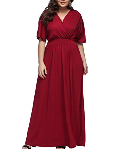 KUREAS Women's Mother of The Bride Bridal Empire Long Maxi Dress Wedding Party Dress
