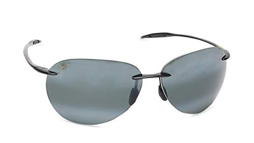 Maui Jim boysgirl's Sugar Beach 421-02 |, Gloss Black, 62mm Lens Width/127mm Arm/12mm ()