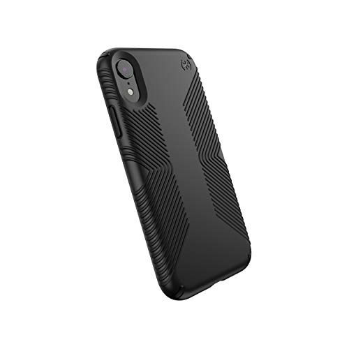 Speck Products Compatible Phone Case for Apple iPhone XR, Presidio Grip Case, Black/Black (Spec Phone Cases)