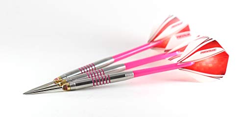 US Darts - Pink Passion 26 Grams, Ringed Grip, No-Bounce, Moveable Point Darts, Tungsten Darts for The Ladies