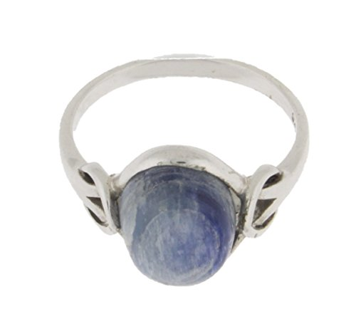 Sterling Silver Kyanite Oval Ring & Gift Box
