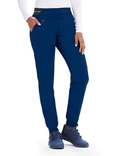 Grey's Anatomy Active GVSP512 3 Pocket Logo Knit Waist Jogger Scrub Pant Indigo/White/White Stripe XST
