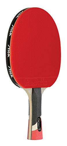 Player Model Bat - STIGA Pro Carbon Performance-Level Table Tennis Racket with Carbon Technology for Tournament Play
