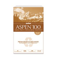 - Aspen 100% Recycled Office Paper, 92 Bright, 20lb, 11 x 17, White, 2500/Carton