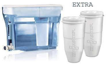 ZeroWater 23-Cup Pitcher with 3 Replacement Filter and Free Water Quality Meter, Blue by ZeroWater