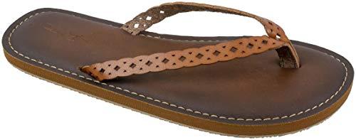 Panama Jack Womens Sandal,Premium Flip Flop Sandal with Memory Foam,Tan,Women's Size 10 to 11 ()