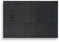 Keeco 8 Pieces, Dakota Faux Leather Placemat, Black - Leather Bath Mats