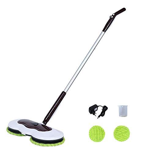 (Electric Mop for Floor Cleaning,Hardwood Floor Cleaner,Laminate Floor Cleaner,Polisher and Scrubber, Tile Floor Cleaner(Brown))