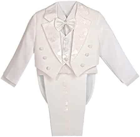 fcafe7402ba Dressy Daisy Boys  Classic Fit Tuxedo Suit with Tail 5 Pcs Set Formal Suits  Wedding