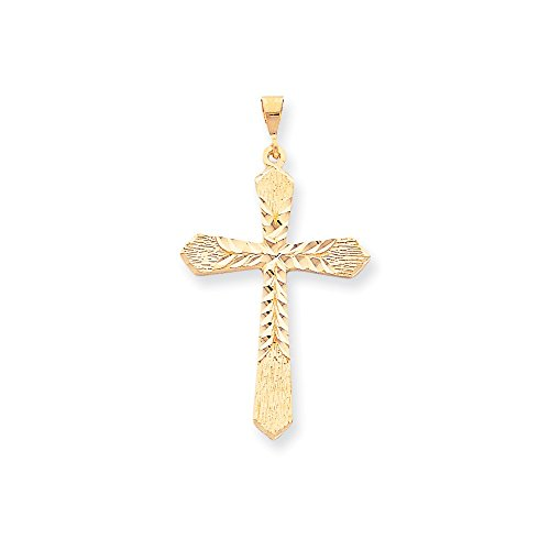 10k Yellow Gold Cross Charm (2IN long x 1.2IN wide) (10k Yellow Medal)