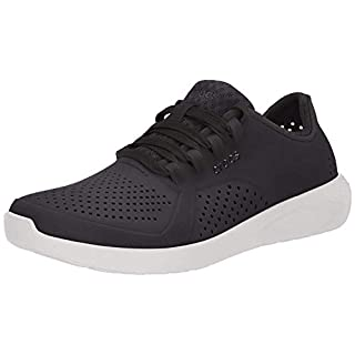 Crocs womens Literide Pacer Sneaker, Black, 9 US