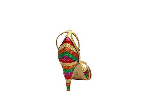 LENORA Damen LISA1424 Multicolour Stoff Absatzschuhe