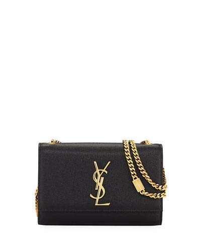2917a6872d5e Saint Laurent Kate Monogram YSL Small Grain Leather Crossbody Bag made in  Italy (Black)