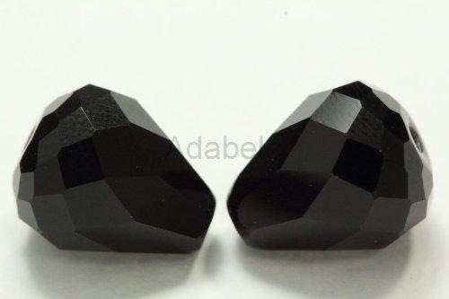 12 Mm Bicone (50 12x10mm Adabele Austrian TearDrop Crystal Beads Jet Alternative For Swarovski Preciosa Crystalized Beads 5500 #SST-1223)