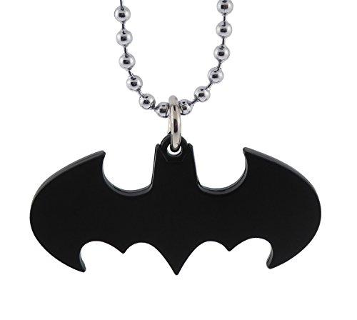 Warner Manufacturing Batman Necklace Dark Knight Pendant Black Symbol Yellow Borders Original -
