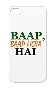 Indian Satire Funny Guys Insult Funny Cartoon LOL Desi Girls Green For Iphone 5/5s Baap Case