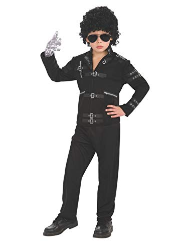 Michael Jackson Child's Value Bad Buckle Jacket Costume Accessory, Medium