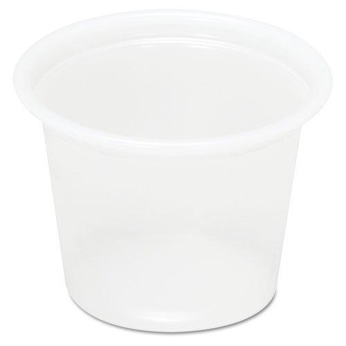 Boardwalk Plastic Souffl? Cups, 1 oz., Translucent, 200/Bag - Includes 25 sleeves of 200 cups. 5000 per case.