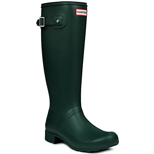 Hunter Womens Original Tall Winter Rain Festival Snow Wellington Boots Green - 5