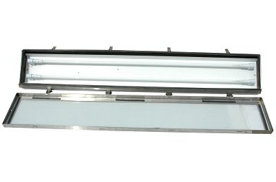 Larson Electronics 0321OXAYFTS Stainless Steel Fluorescent Light Fixture - Corrosion Resistant - Class 1 Div 2 Marine Grade - T12HO