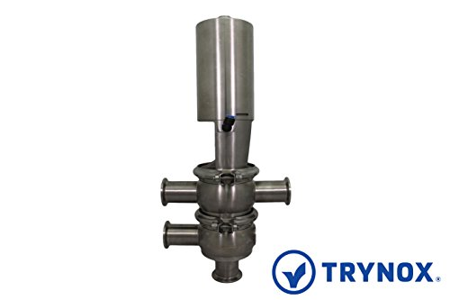 Trynox Sanitary Stainless Steel Single Seat Divert Valve TL 316L 2'' Sanitary Fitting by Trynox