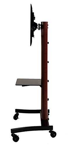 TransDeco TV Stand/Cart Flat Panel Mounting System for up to 75 inch TD593DB, Dark Oak/Black by TransDeco (Image #4)