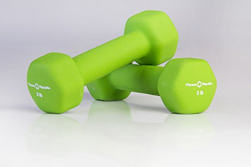 Fitness Republic Neoprene Coated Dumbbells Set (Hex Hand Weights)
