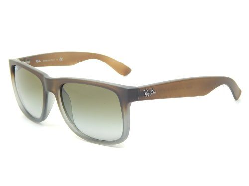 Rayban Sunglasses Justin RB4165 854/7Z RUBBER BROWN ON GREY GREEN - Sunglasses Ray Shipping Ban Free