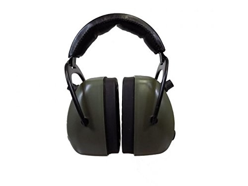 Pro Ears Gold II 30 - PEG2RMG - Electronic Hearing Protection & Amplification - Range Earmuff - NRR 30 - Hearing Protector Ear Muffs, Green by Pro Ears